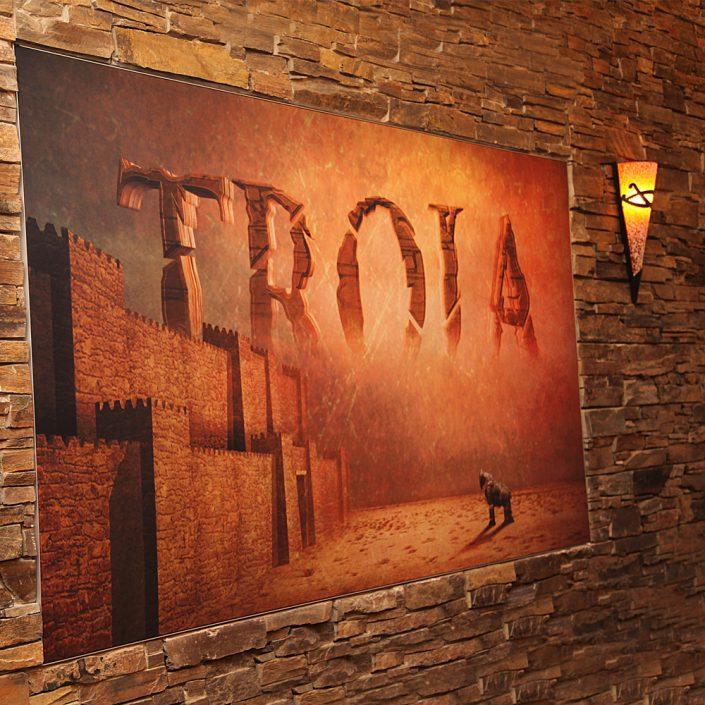 Restaurant Troja München - Wandbild Troja