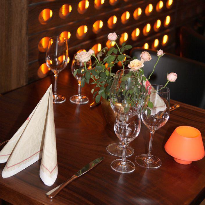Restaurant Troja München - Tischdeko