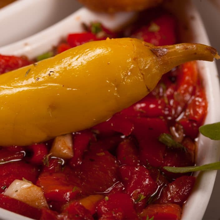 Restaurant Troja München, Vorspeise, rote Paprika