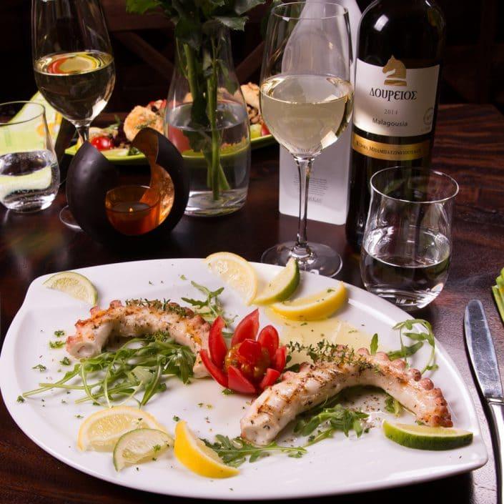Restaurant Troja München - Fisch - Oktapodi gegrillt