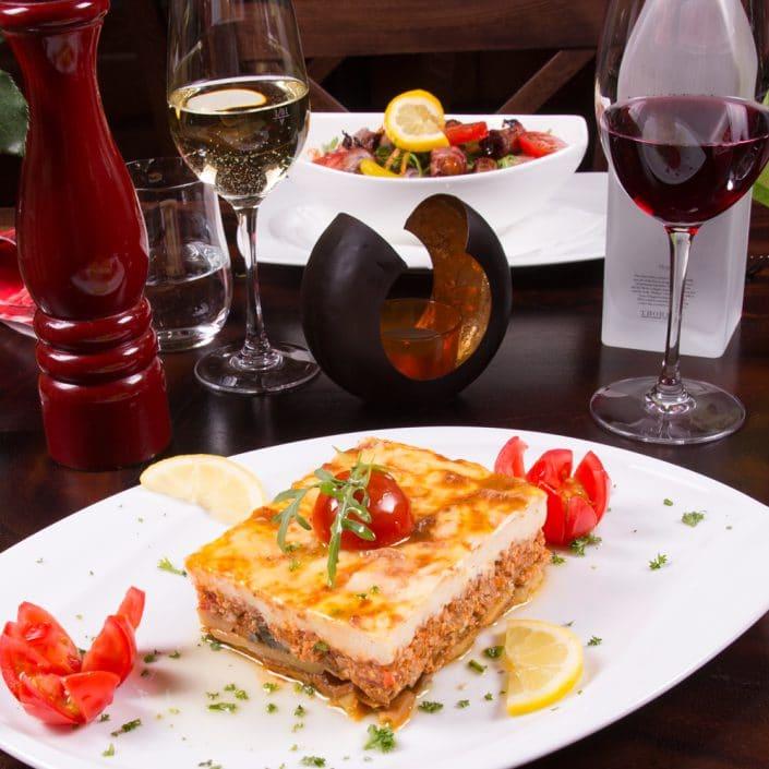 Restaurant Troja München - Hauptspeise - Mousaka