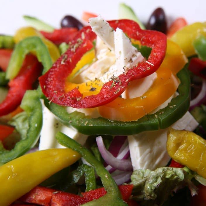 Restaurant Troja München - Salate - gemischter Salat, Paprika, Schafskäse