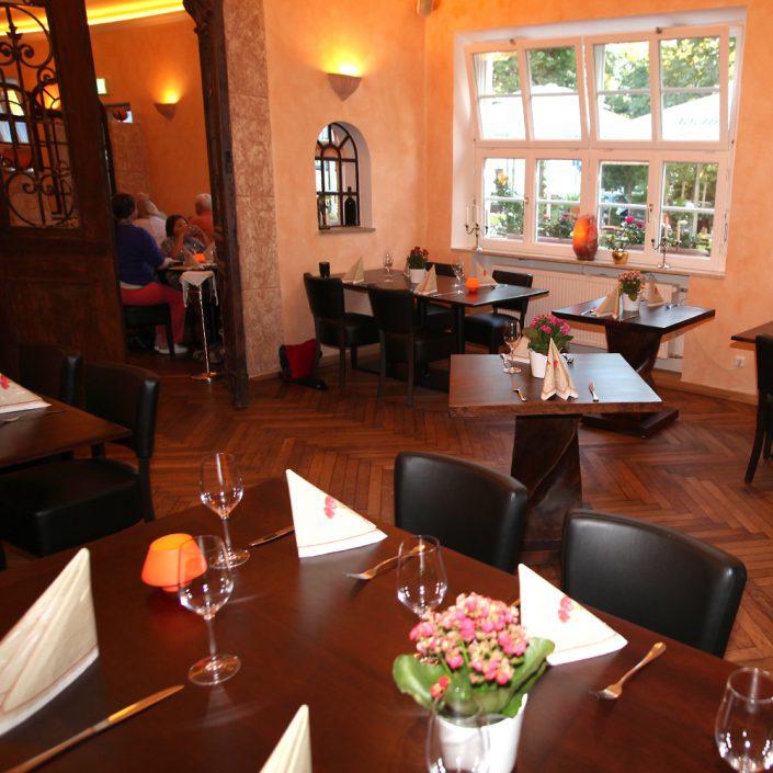 Restaurant Troja München - Blick aus dem Fenster