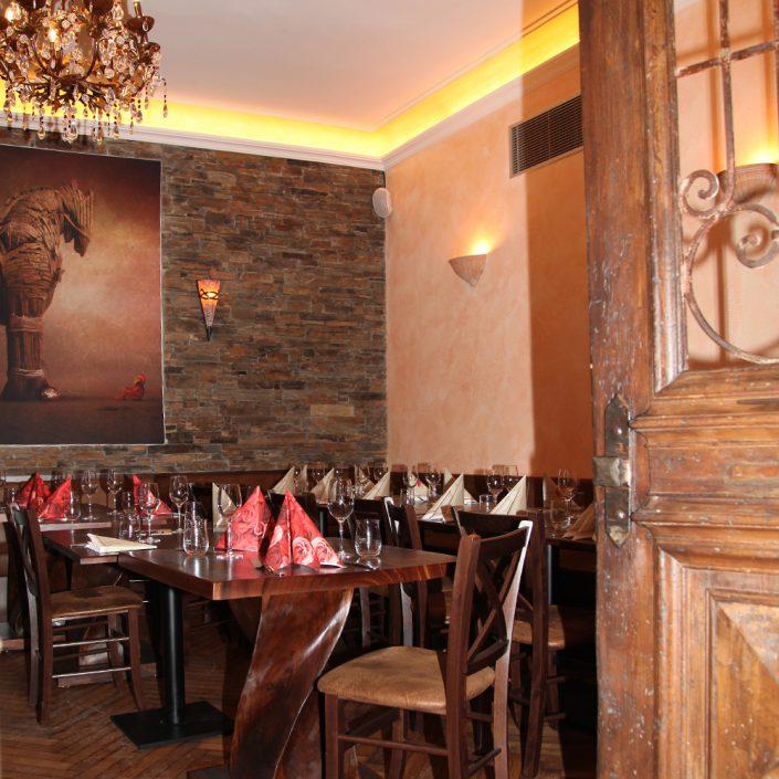 Restaurant Troja München - abgeschlossener Nebenraum