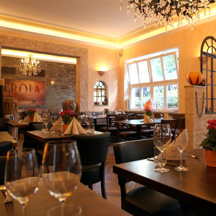 Restaurant Troja München - Blick zum Fenster