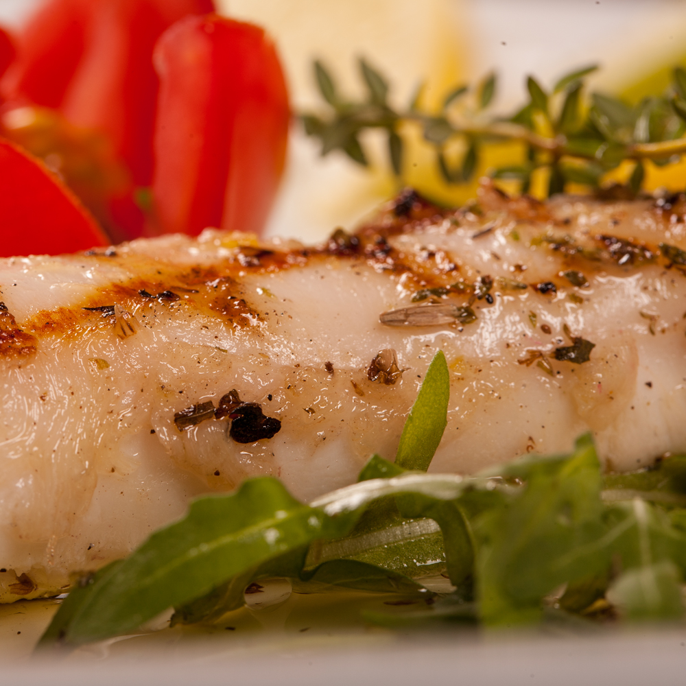 Restaurant Troja München, Tintenfisch mit Salat und Kräuter