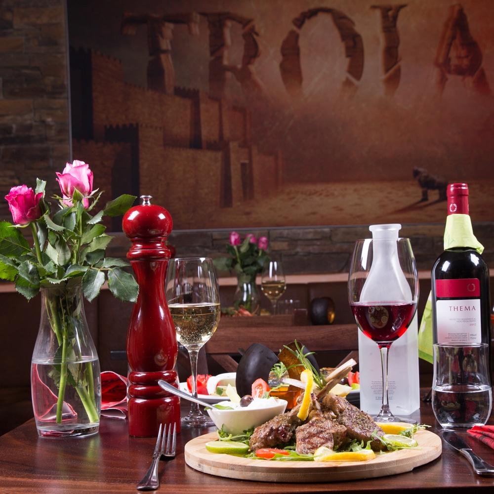 Restaurant Troja München - Fleisch - Lammkottlet mit Tzatziki