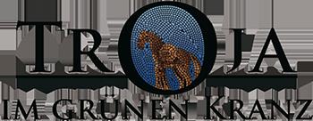 Kontakt Restaurant Troja München, Logo trojanisches Pferd