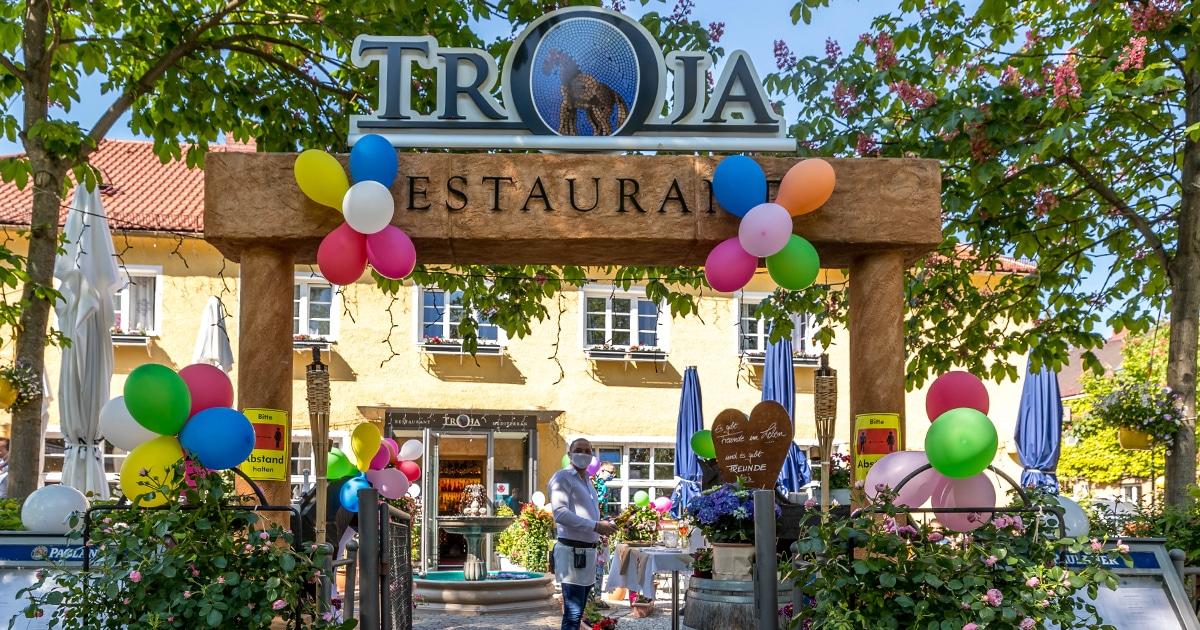 Troja München, Wiederöffnung nach Corona, griechisches Restaurant München