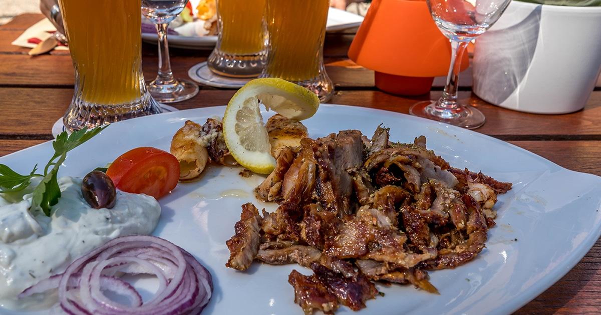 Troja griechisches Restaurant München, Gyros